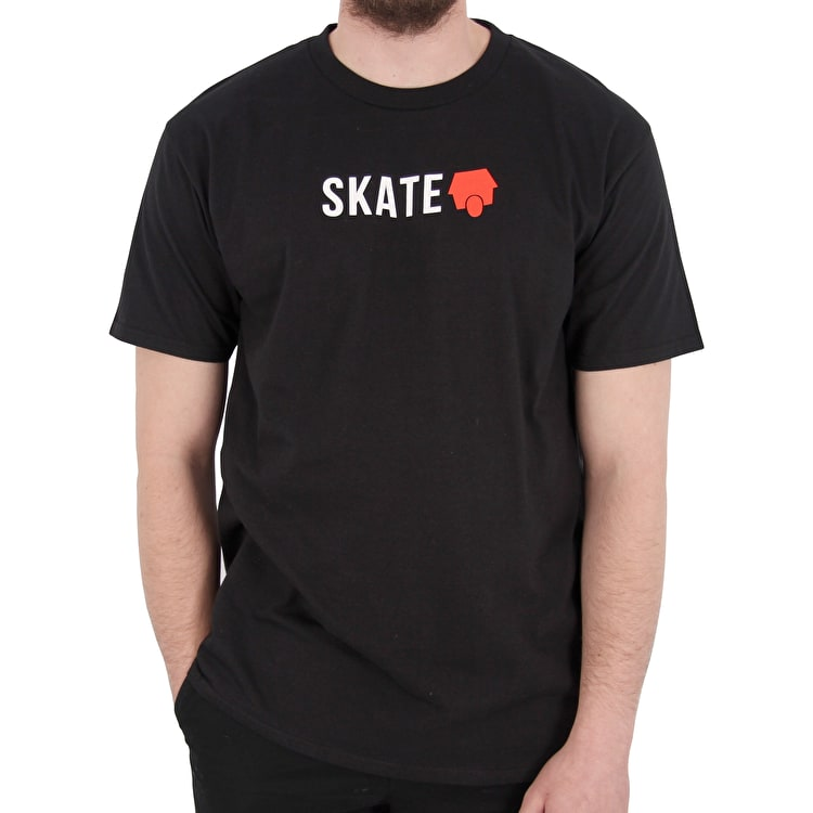 SkateHut Skate Logo T-Shirt - Black/Red