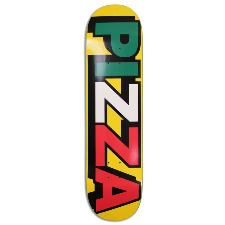 "Pizza Tri Logo Deck Skateboard Deck 8.25"" - Yellow"