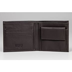 Levi's Vintage Two Horse Bifold Coin Wallet - Dark Brown
