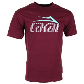 Lakai Tonal Tech T-Shirt - Burgundy