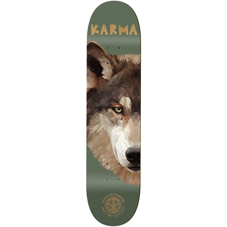 Karma Nature Skate For The Planet Skateboard Deck - Wolf  8.125""
