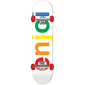 Enjoi Spectrum Complete Skateboard - White 7.5