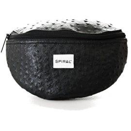 Spiral Platinum Bum Bag - Ostrich Black