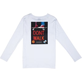 Santa Cruz Don't Walk Long Sleeve Womens T Shirt - White