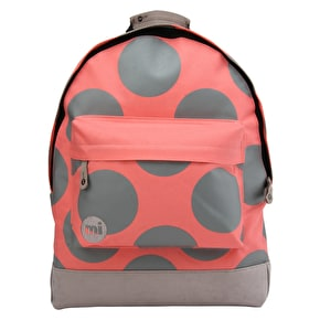 Mi-Pac Polka XL Backpack - Coral/Grey