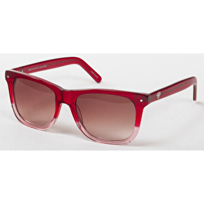 Diamond Faded Vermont Polarised Sunglasses - Red