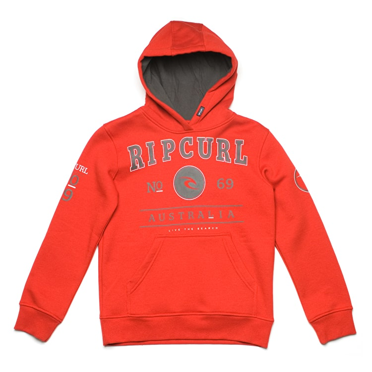 Rip Curl Kids Shock Up Hooded Fleece Red