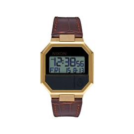 Nixon Re-Run Leather Watch - Brown Croc