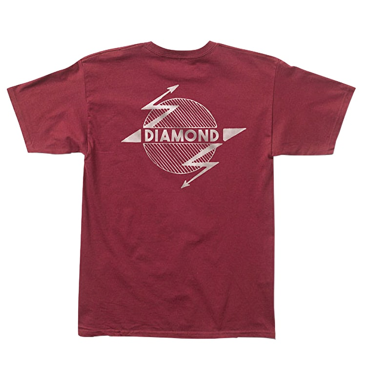 Diamond Bolt T-Shirt - Burgundy