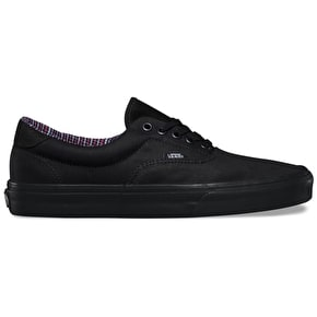 Vans Era 59 Skate Shoes - (Cord & Plaid) Black/Black