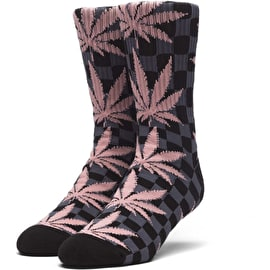 Huf Checkered Plantlife Socks - Black
