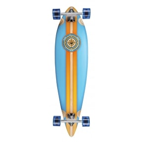 D-Street Compass Pintail Longboard - Blue/Orange 38
