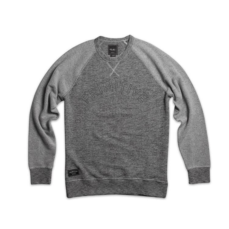 Primitive Reverse Raglan Crew - Grey Heather