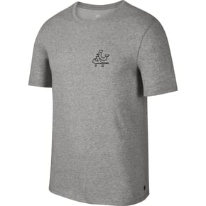 Nike SB Dry Swooshie T-Shirt - Grey Heather/Black