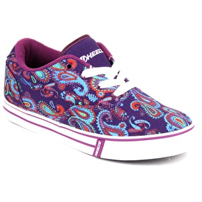 Heelys Launch - Purple/Paisley Print