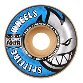 Spitfire Formula Four Radial 99D Skateboard Wheels - Blue 54mm (Pack of 4)
