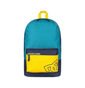DC Bunker Colour Block Backpack - Blue/Yellow