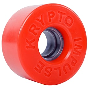Kryptonics Impulse Quad Skate Wheels - Solid Red 62mm 78A (8 Pack)