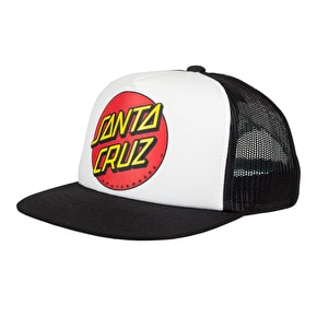 Santa Cruz Classic Dot Snapback Kids Cap - White/Black