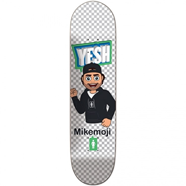 Girl Moji Skateboard Deck - Mike Mo 8""