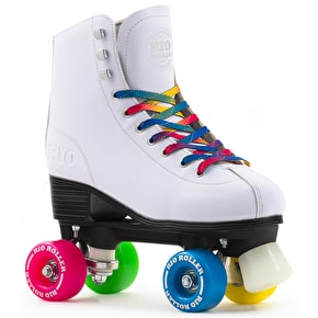 B-Stock Rio Roller Figure Quad Roller Skates - White UK 8  (box damage, slightest mark on boot)
