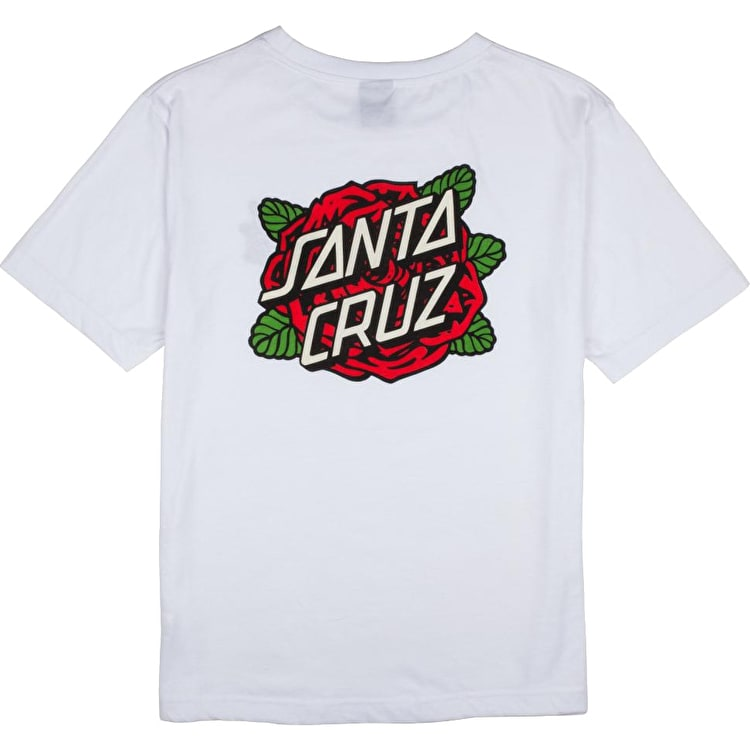 Santa Cruz Roses Dot Womens T-Shirt - White