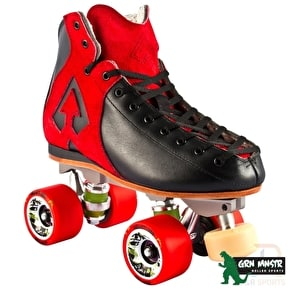 Antik AR1 Storm Roller Derby Skate Package Red