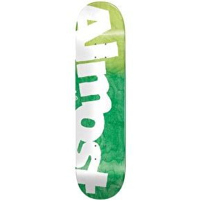 Almost Side Pipe HYB Skateboard Deck - Green Fade 8.5