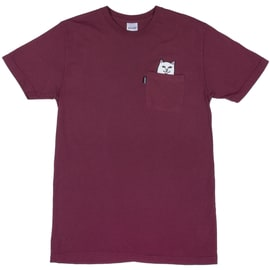 RIPNDIP Lord Nermal Pocket T-Shirt - Burgundy