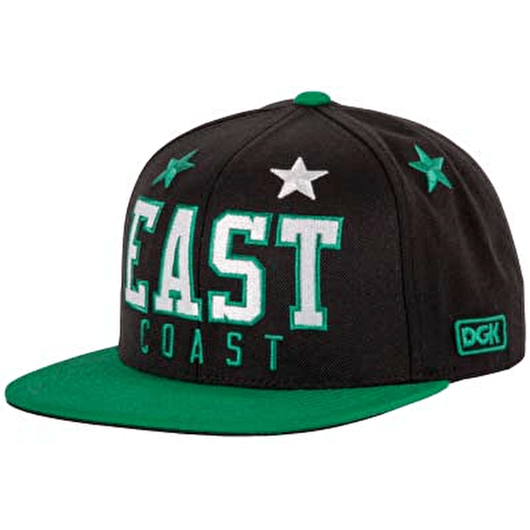 DGK Coastal East Snapback - Black / Green