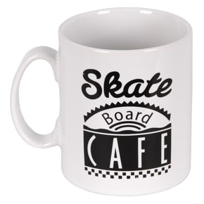 Skateboard Cafe Diner Mug - White