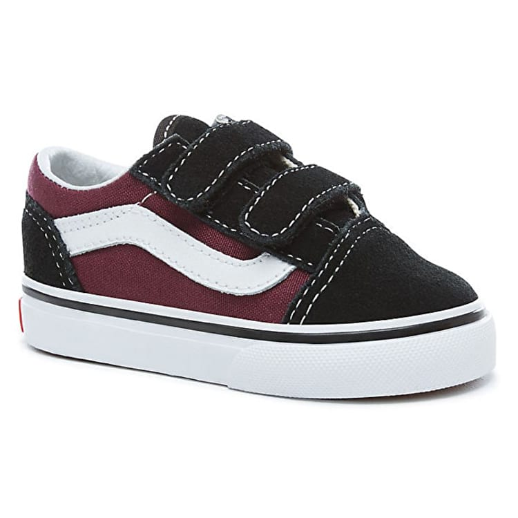 Vans Old Skool V Pop Kids Shoes - Black/Burgundy