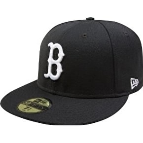 New Era Boston Red Sox 59FIFTY Fitted Cap Black/White