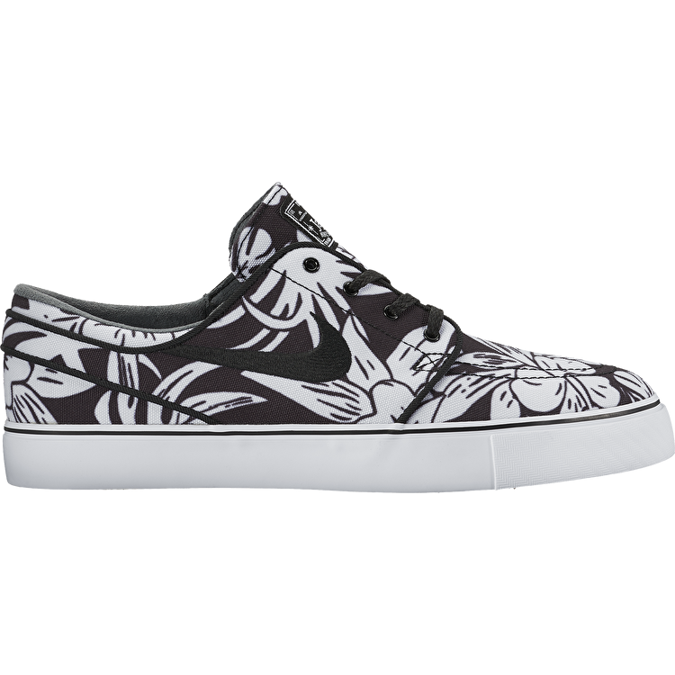 Nike SB Zoom Stefan Janoski Canvas Premium Skate Shoes - Black/Black/White