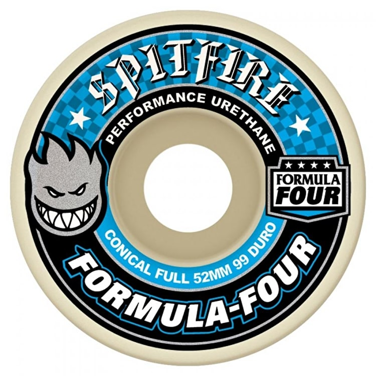 Spitfire Formula Four Conical Full 99a Skateboard Wheels - 54mm (Pack of 4)