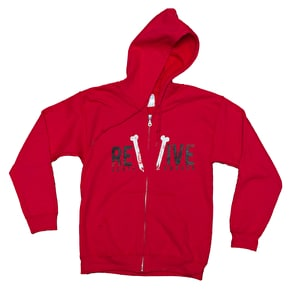 ReVive Skateboards Zip Hoodie - Broken Red