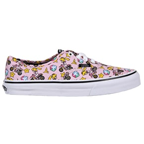 Vans Authentic Kids Shoes - (Nintendo) Princess Peach/Motorcycle