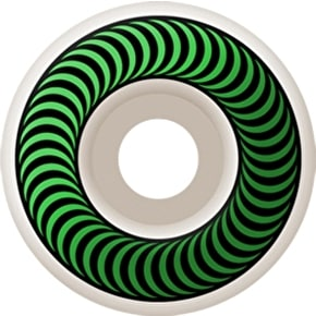 Spitfire Classic Skateboard Wheels - White/Green 52mm (Pack of 4)