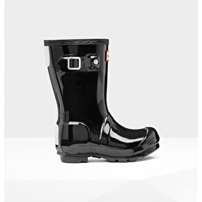 Hunter Toddlers Original Wellington Boots - Gloss Black