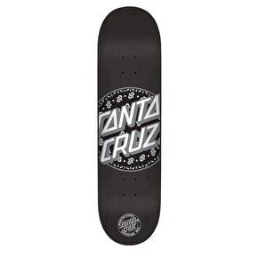 Santa Cruz Paisley Dot Team Skateboard Deck - Black 8.375''