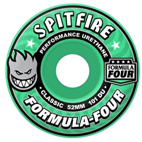 Spitfire Formula Four 101a Skateboard Wheels - Mint Flash 52mm