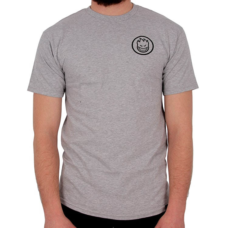 Spitfire Classic Swirl T shirt - Athletic Heather/Black Print