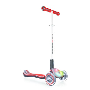 Globber Elite Lights Complete Scooter - Red