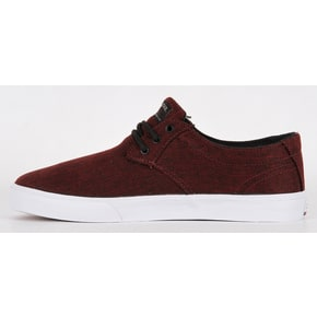 Lakai Daly Skate Shoes - Burgundy Textile