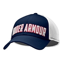Under Armour Stand Out Stretch Fit Cap - Navy/White