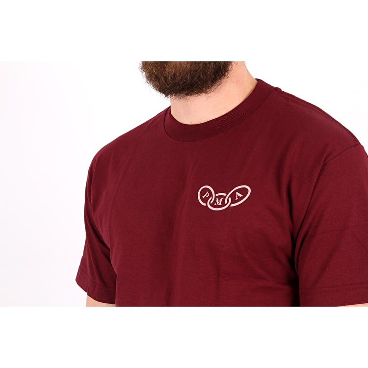 Rebel8 Foretold T shirt - Burgundy