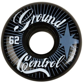 Ground Control 62mm 90a Inline Skate Wheels - Black