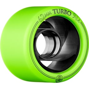 Rollerbones Derby Turbo Quad 62mm Wheels 94A (8pk) - Green