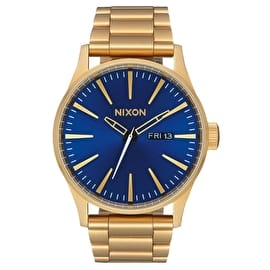 Nixon Sentry SS Watch - All Gold/Blue Sunray
