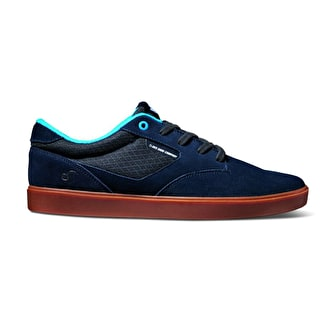 DVS Pressure SC Skate Shoes - Navy Suede/Mesh Chico